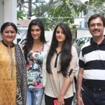 Nupur Sanon with her family