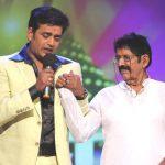 Ravi Kishan with his father
