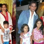 Ravi Kishan with his wife and children