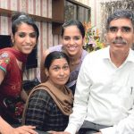 Saina Nehwal with her family