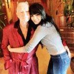 Sherlyn Chopra with Hugh Hefner