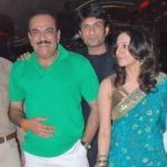 Shivaji Satam with his son Abhijeet and daughter-in-law