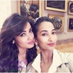 Sonal Chauhan with her sister Himani