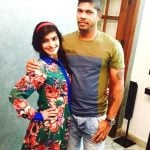 Umesh Yadav with his wife