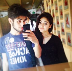 Zaira Wasim with her brother