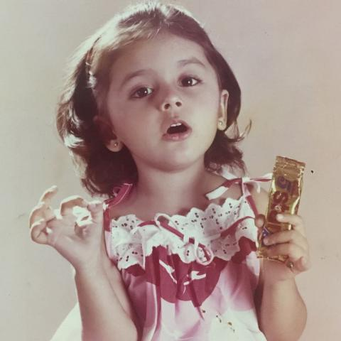 Aarti Chabria as a child model