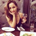 Aisha Sharma drinking alcohol