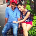Aisha Sharma with her brother