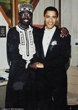 Barack Obama with his half-brother Malik Abongo Obama
