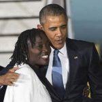 Barack Obama with his older half sister Auma Obama