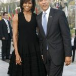 Barack Obama with his wife Michelle Obama