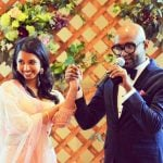 Benny Dayal with his wife