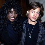 Brad Pitt with Sinitta