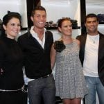 Cristiano Ronaldo with his brother and sisters