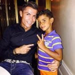 Cristiano Ronaldo with his son Cristiano Ronaldo JR.