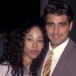 George Clooney with his Ex-girlfriend Kimberly Russel