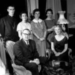 Jerry Brown with his parents and sisters