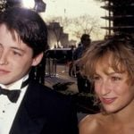 Johnny Depp with his girlfriend Jennifer Grey
