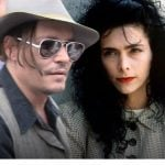 Johnny Depp with his girlfriend Lori Anne Allison