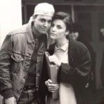 Johnny Depp with his girlfriend Sherilyn Fenn