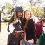 Johnny Depp with his sister Debbie Depp