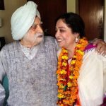 Kirron Kher with her Father