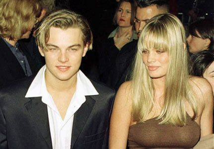 Leonardo DiCaprio with model Kristen Zang