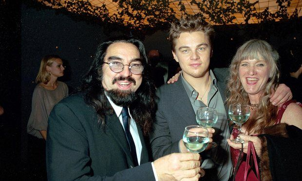 Leonardo Dicaprio with his father George Dicaprio and mother Irmelin Indenbirken