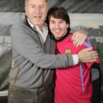 Lionel Messi With Carles Rexach