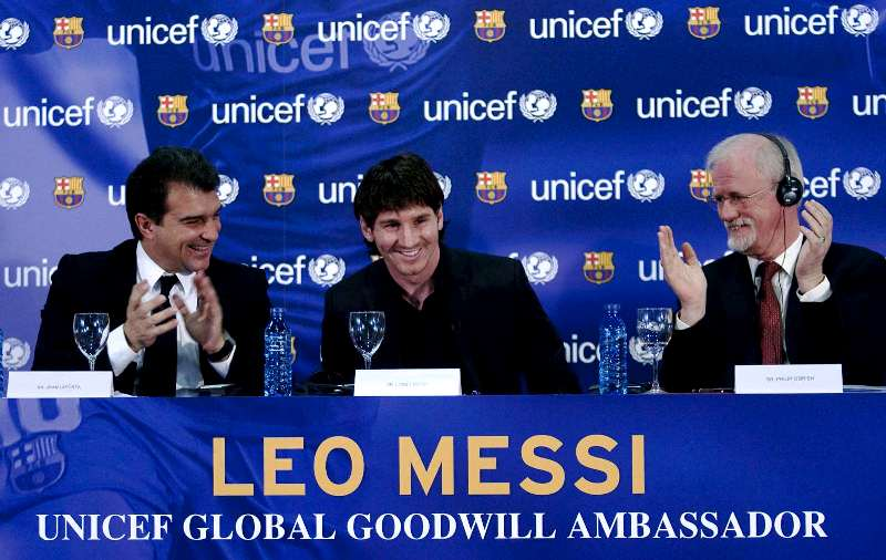 Lionel Messi appointed as the UNICEF Goodwill Ambassador