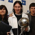 Lionel Messi With His Parents