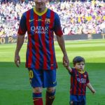 Lionel Messi With His Son Thiago Messi