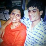 Manav Kaul with his mother