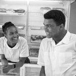 Muhammad Ali with his 2nd wife Belinda Boyd