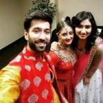 Nakuul Mehta with his wife and Rashami Desai