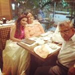 Navina Bole with her parents