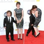 Peter Dinklage with his wife. Cute