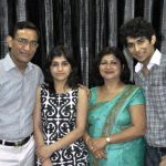Priyanshu Jora with his family