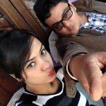 Rajnandini Borpuzari with her brother
