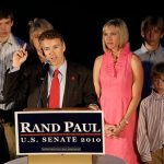 Rand Paul with his wife and three sons