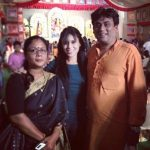 Reeth Mazumder with her parents