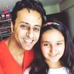Salim Merchant with his daughter