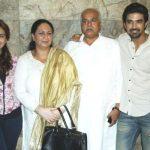 Saqib Saleem with his family