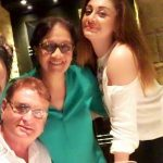Shefali Zariwala with her parents