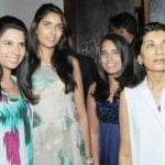 Siddharth Mallya step mother and sisters