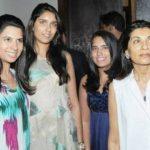 Siddharth Mallya step mother and sisters