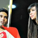 Siddharth Mallya with Sharmila Nicollet