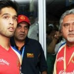 Siddharth Mallya with his father