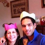 Siddharth Mallya with his mother