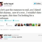 Sofia Hayat tweet about Rohit Sharma